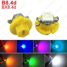 5PCS Car 12V B8.4d/BX8.4d 1SMD 5050 Gauge Dashboard LED Light Interior Lamp White/Blue/Red/Yellow/Green/Pink/Ice blue #CA4236