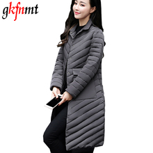 Gkfnmt 2018 Spring Jacket Women Fashion Womens Winter Coat Slim Long Sleeve Cotton Coats And Jackets Parka Warm Jacket Plus 3XL(China)