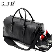 Large Capacity PU Leather Mens Travel Bag Fashion Travel Handbag for Man  Famous Brand camp Bag Waterproof women Duffle bag 3093335deef01