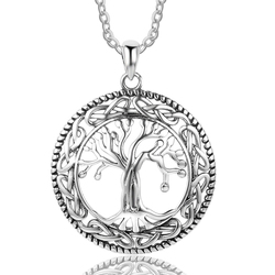 Модное ожерелье дерево жизни подвески и ожерелье для женщин 26 мм Подвески изящный драгоценный подарок для женщин мама (NE101908)