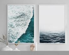 2017 New Nordic Simple Sea Flowers Pattern Canvas Art Print Poster Wall Pictures for Home Decoration, Giclee Wall Decor  ypx