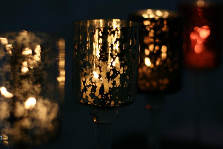 Hot Sell Mosaic Glass Candlestick Romantic Wedding Gauges European Candlestick Ktv Bar Creative Fashion Simple Home Decoration 6