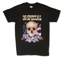 38 Special Flag Guns Wild Eyed Boys Tour 2007 Black T Shirt New Official(China)