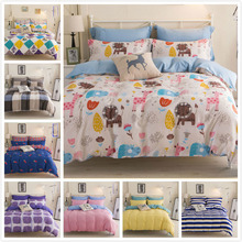 Student Kids Boy Girl Queen Twin Double Single Size Bed Sheet 4pcs Bedding Set 1.2m 1.5m 1.8m 2m Duvet Cover Pillowcase Bedlinen(China)