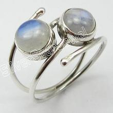 STAMPED Solid Silver RAINBOW MOONSTONE Ring Size 5 ! Girls' Jewelry