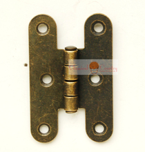 "10pcs of 2.17"" H Type Hinges for Trunk Jewelry Box Storage box Furniture Hardware Hinges Imitation Bronze(China)"