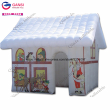 3.8*3.2*2.7m santa claus house tent inflatable Christmas house for outdoor advertising ornaments(China)