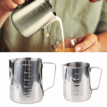 Stainless Steel Coffee Latte Frothing Milk Jug With Scale Measuring 350/600ml