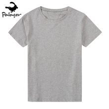 Palager Men T-shirt Short Sleeve Solid Cotton Mens Tee Shirt Summer Jersey Plain T Shirts O-Neck tshirt Black White Big Size 6XL