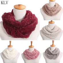 KLV Womens Blend Circle Neck Ring Collar Scarf Shawl Collar Wrap Stole Scarve Winter Keep Warm For Women Wholesale