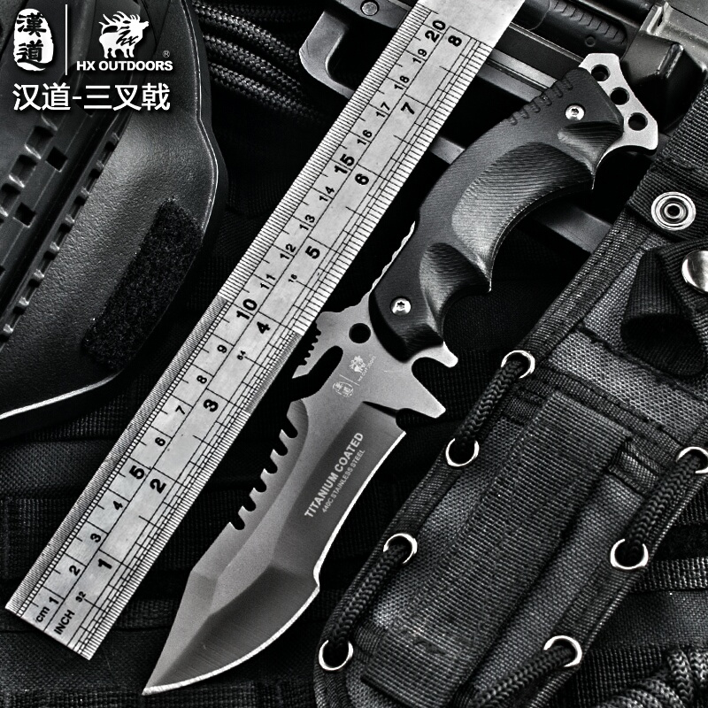 HX OUTDOORS army Survival knife outdoor tools high hardness straight knives essential tool for self-defense cold steel knife<br>