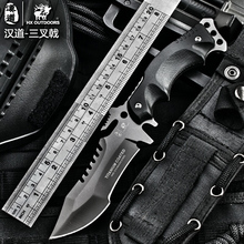 HX OUTDOORS army Survival knife outdoor tools high hardness straight knives essential tool for self-defense cold steel knife(China)
