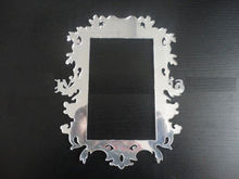 Free shipping  cut out decorative wall mirror frame , acrylic 3D wall mirror frame