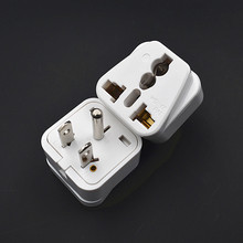 10 x Universal to USA Canada Travel Plug Adapter Convert UK US AU China to US 3 Pin White/Black Color(China)