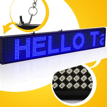 82CM P5 SMD CE approved Wireless wifi usb Programmable Advertising led sign Blue Color display screen support multi-langua