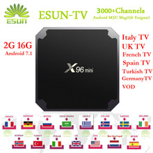 ESUN-TV X96 Mini Europe/Arabic IPTV UK SPAIN ITALY Germany Sweden Albania XXX hotclub 2000 live channels VOD 1/3/6/12 Months