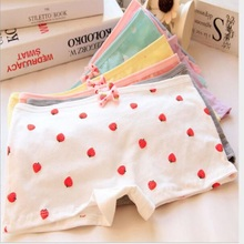 Buy 3 Pcs/lot Girl Series Cartoon cute face printing cotton panties, underwear women sexy underwear cute Women's panties