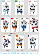 inflatable soccer football costume European Championship soccer fans costume National football game National team