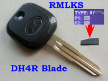 Replacement Transponder car Key with 4D67 chip For Daihatsu Charade Copen Cuore Feroza Materia Serion Terios YRV Trevis(China)