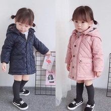 Rourousheep 2017 New Winter Baby Girls And Boys Classical Plaid Pink Blue Padded Jackets Children Lammy