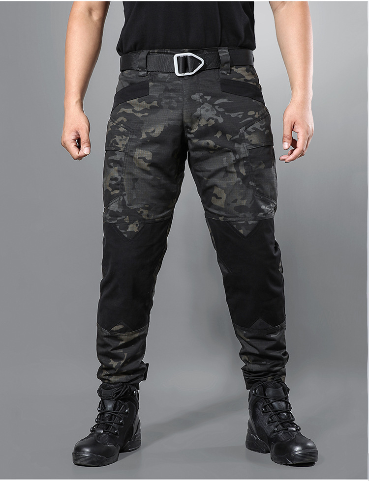 Mens Sports Outdoor Camouflage Pants Army Military Work Trousers Loose Bottom