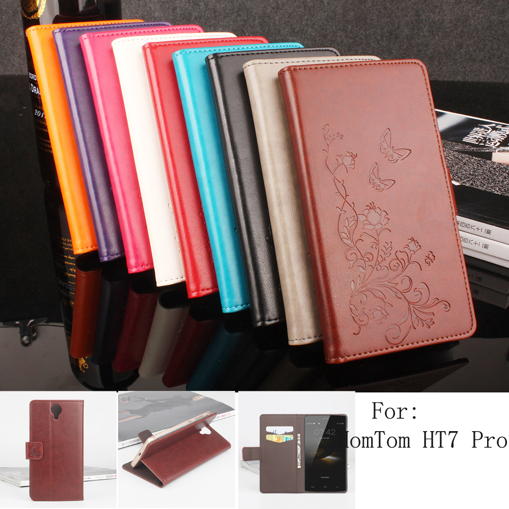 Secret Garden Series Luxury high PU leather case HomTom HT7 Pro Cover Shield Case Bag