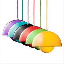 Verner Panton Flowerpot Pendant Light Modern novel design lamp for living room bed room restaurant 1734(China)