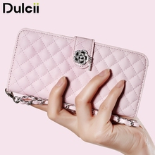 Dulcii for Galaxy S8+ Phone Case Rhombus Leather Wallet Phone Cover Wrist Strap Cover for Samsung Galaxy S8 Plus Case G955