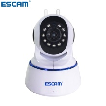 ESCAM QF003 1080P 2MP Dual Antenna Pan/Tilt ONVIF WiFi Indoor IP IR Surveillance Cameras CCTV Day Night Video Monitor Mini Cam