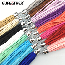 GUFEATHER 8.5CM Suede tassel/jewelry accessories/jewelry findings/diy accessories/jewelry making/jewelry materials/tassel