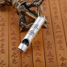 S990 sterling silver pendant Archaize process men's and women's personality be blew the Buddha modelling to whistle