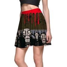Personality Graffit Women Sexy Pleated Skirts Tennis Bowling Bust Shorts Skirts Slim Skull Female Fitness Sport Apparel A Style