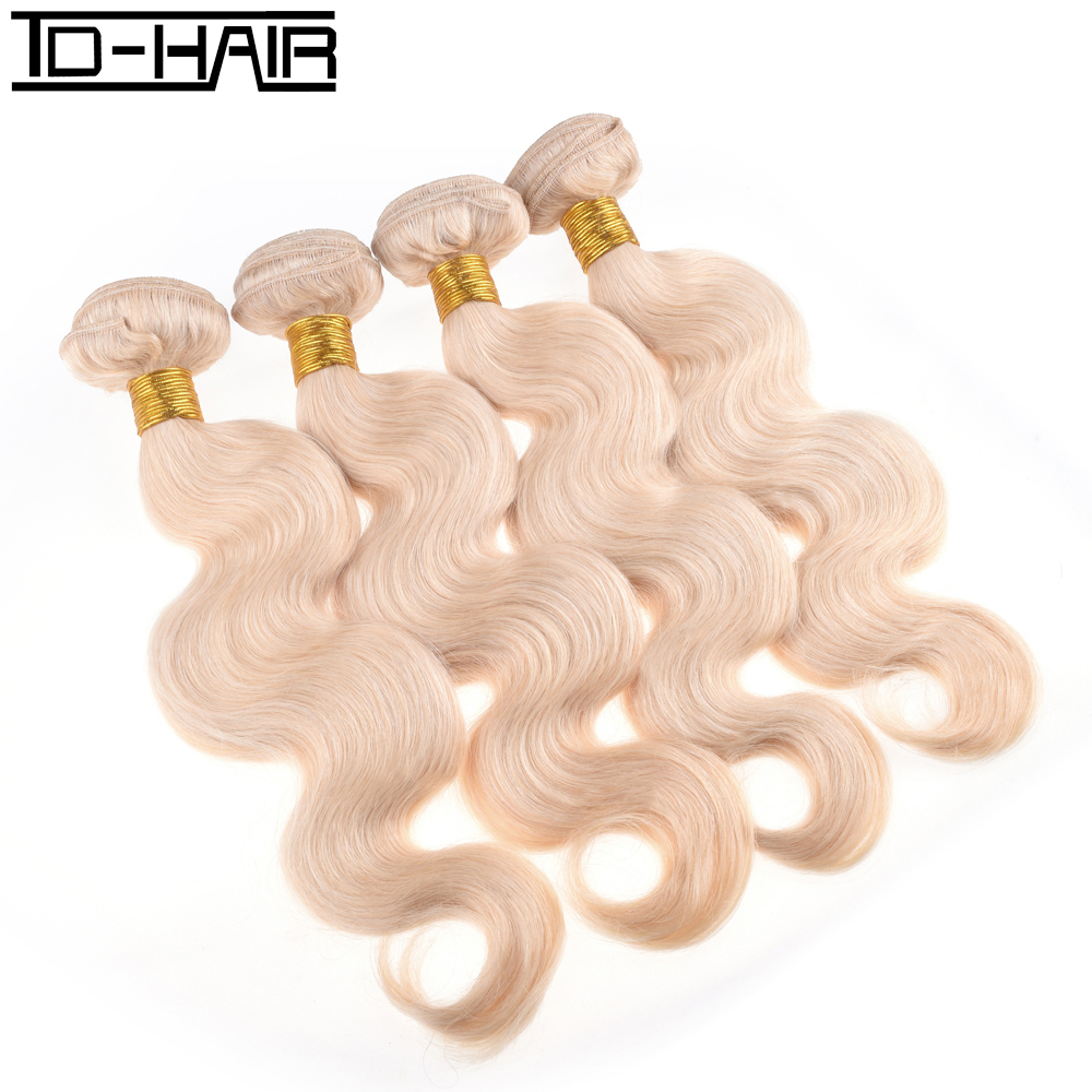 8A Blonde 613#  Peruvian Virgin Hair Body Wave 4pcs Human Hair Weave Bundles Hair Extensions Can Be Dyed TD HAIR<br><br>Aliexpress