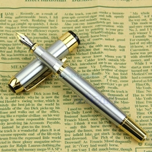 New Luxury Fountain Pen Noble Golden And Silver M Nib Jinhao 250(China)