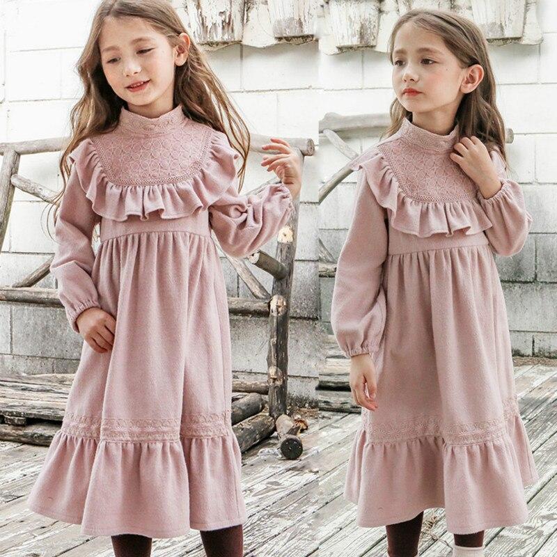 Girls Long Princess Dress Autumn Girls Dress Winter 2017 Long Sleeve Floral 8 Years Cotton Children Clothing Kids Clothes<br>