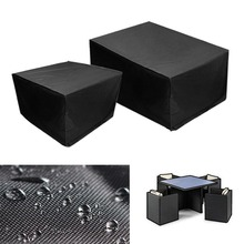 Portable Waterproof Dustproof Furniture Cover Case Tarpaulin Black