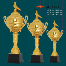 cast metal GOLF or FANTASY FOOTBALL Cup Trophy Award     sport  award cup    football souvenir with bird on the top