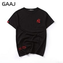 """GAAJ Embroidery Men T Shirts O Neck Male Chinese Japanese Style T-shirts For Man Casual Tshirt 3XL Streetwear Cotton Mens Tops"