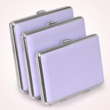Woman Cigaret case hold 14/18/20 cigarette purple color gift for girl lady free shiping(China)