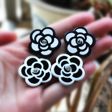 many styles flat back resin cabochon flowers for diy brooch decoration 20pcs mixed(China)