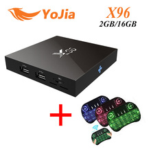 Newest X96 tv box Amlogic S905X X96 Android 6.0 TV BOX Quad Core 2GB 16GB Keyboard Smart Set Top Box PK NEXBOX A95X V88