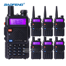6pcs Long Distance Walkie Talkies BaoFeng UV-5R 5W Dual Band VHF UHF Two Way Communication Business Mobile Radio Headset+Battery(China)