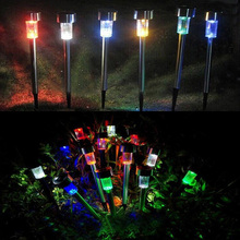 5 pcs Landscape Lighting Outdoor Solar Power 7 Color Changing LED Garden Landscape Path Pathway Lights Lawn Lamp for garden(China)