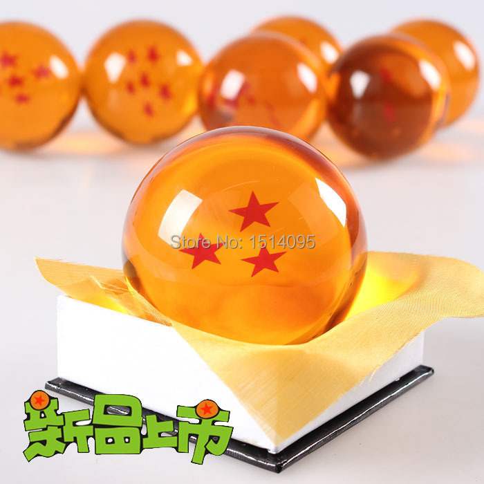 3/4 Star Dragon Ball 7cm Japanese Anime Dragon Ball Z Crystal Ball Big Rubber Material New in Box GB045<br><br>Aliexpress