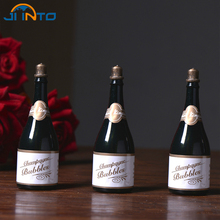 Wedding Bubble Empty Bottle Champagne Style Bottle Wedding Party Supplies Baby Favors Present DIY Soap Sater(China)