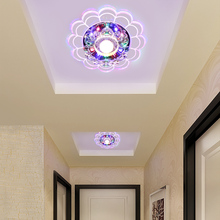 LED downlight porch lamp crystal lamp lights spotlights the living room ceiling embedded hole hall LU62243 ZL410(China)