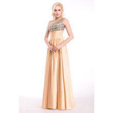 Fast Delivery Long Sequin Bridesmaid Dresses 2017 One Shoulder Floor Length Backless Champagne Cheap Bridesmaid Dress Gown