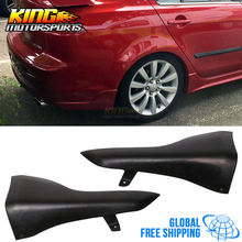 For 08-15 Mitsubishi Lancer Rear Bumper Lip Aprons 2PC Unpainted - PU Urethane Global Free Shipping Worldwide