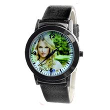 Personalized Quartz Watch Women's Watches Customized Wrist WatchS Print With Customer Picture Leather Belt Fashion in Gift Box(China)