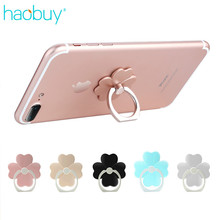 Universal 360 Degree Cute Clover Stand Holder Mobile Phone Colorful Finger Ring For All Smartphone iPhone Samsung Xiaomi HUAWEI